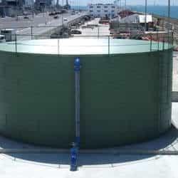 Tanques de fibra para produtos químicos